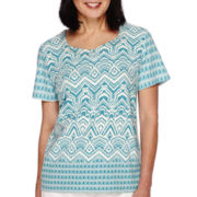 Alfred Dunner® Cozumel Short-Sleeve Monotone Tee - Petite
