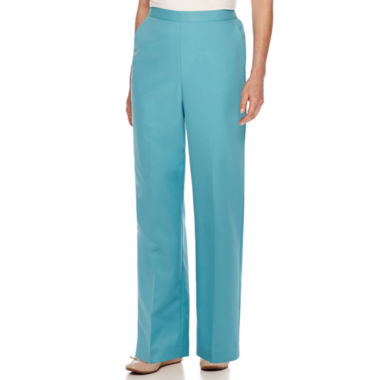 jcpenney.com | Alfred Dunner® Cozumel High-Rise Solid Pants - Petite