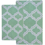 Double Quatrefoil 2-pc. Bath Rug Set