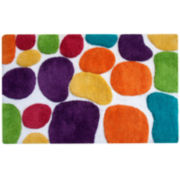 "Pebbles Brights 24x36"" Bath Runner Rug"