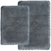 Chesapeake Merchandising Verona Pleat Trim 2-pc. Bath Rug Set