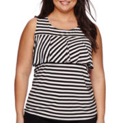 Worthington® Ruffled Knit Tank Top - Plus