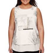 Worthington® Layered Graphic Tank Top - Plus