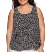 Worthington® Sleeveless Layered Front Blouse - Plus