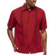 The Havanera Co.® Short-Sleeve Pickstitch Panel Shirt
