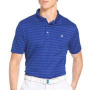 IZOD® Short-Sleeve Classic Golf Plaid Jacquard Polo