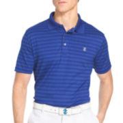 IZOD® Short-Sleeve Classic Golf Plaid Jacquard Polo