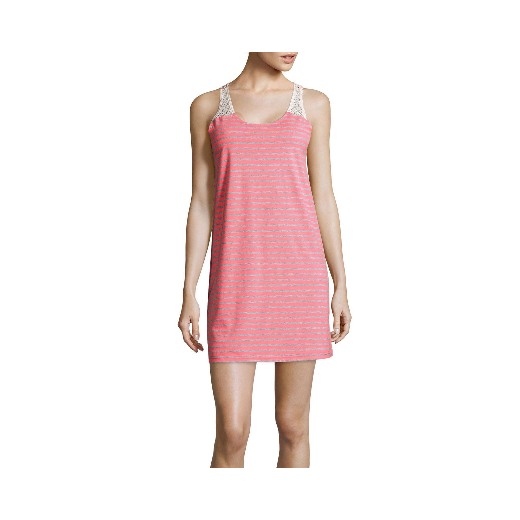 PJ Couture Crochet-Trim Nightshirt plus size,  plus size fashion plus size appare