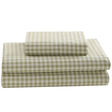 jcpenney.com | Mary Jane's Home 250tc Gingham Print Sheet Set