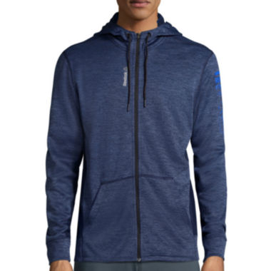 jcpenney.com | Reebok® Workout Ready Mélange Graphic Full-Zip Hoodie