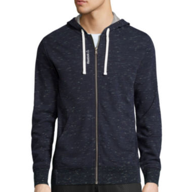 jcpenney.com | Reebok® Elements Long-Sleeve Pop Slub Hoodie