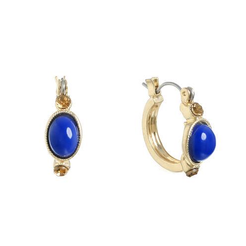 Monet Jewelry Blue Hoop Earrings