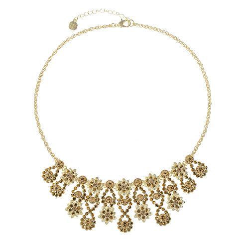Monet Jewelry Brown Statement Necklace
