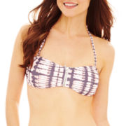 Ninety Six Degrees Zipper Bandeau Swim Top