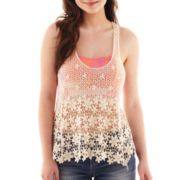 Dolled Up Sleeveless Crochet Tank Top