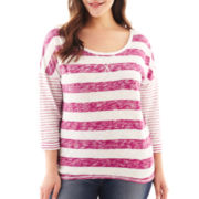 Arizona 3/4-Sleeve High-Low Tee - Plus