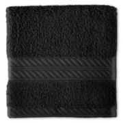 Royal Velvet® Egyptian Cotton Black Washcloth