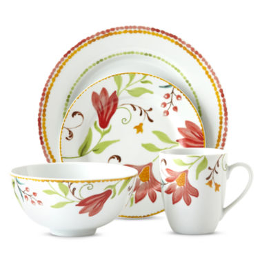 jcpenney.com | Oneida® Italian Cypress 16-pc. Floral Dinnerware Set