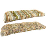Wicker Settee Reversible Cushion
