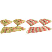 3-pc. Wicker Reversible Cushion Set