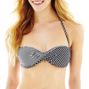 Arizona Hard Cup Twist Bandeau Swim Top - Juniors