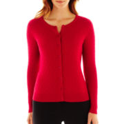 Liz Claiborne® Cable Knit Cardigan Sweater