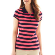 Liz Claiborne Short-Sleeve Polo Shirt - Petite