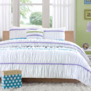 Mizone Shauna Ruched Comforter Set