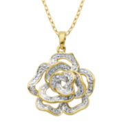 Classic Treasures™ Diamond-Accent Rose Pendant Necklace