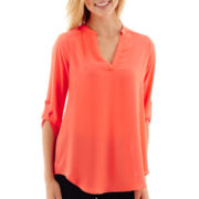 Decree® 3/4-Sleeve Pullover-Tab Top