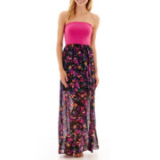 Decree® Bow Back Maxi Dress