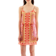 Bisou Bisou® Scarf Print Blouson Dress