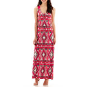 Bisou Bisou® Medallion Print Maxi Dress