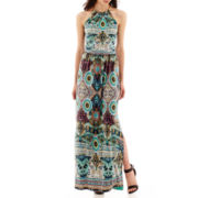 Bisou Bisou® Print Chain-Neck Maxi Dress