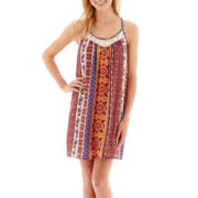 Bee Darlin Sleeveless Patchwork A-Line Dress