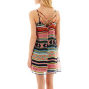 City Triangles® Sleeveless Batik Striped Slip Dress