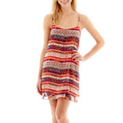 Speechless® Sleeveless Batik Slip Dress
