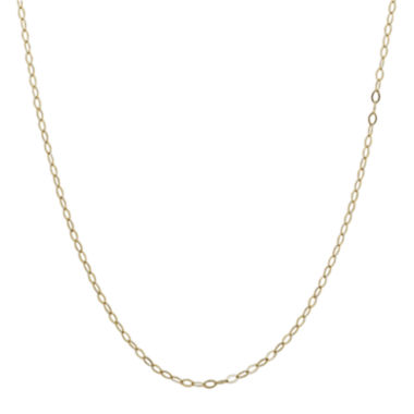 "jcpenney.com | Infinite Gold™ 14K Yellow Gold 22"" Oval Cable Chain Necklace"