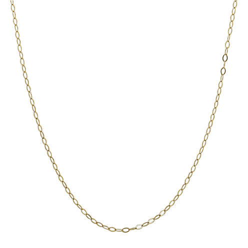 """Infinite Gold™ 14K Yellow Gold 16"""" Oval Cable Chain Necklace"""