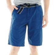 JF J. Ferrar® Belted Ripstop Shorts