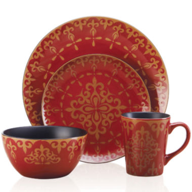 jcpenney.com | Pfaltzgraff® Everyday Vintage Scroll 16-pc. Dinnerware Set