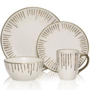Gourmet Basics by Mikasa® Delancey Gold-Trim 16-pc. Dinnerware Set