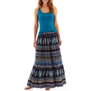 St. John's Bay® Ribbed Tank Top or Knit Maxi Skirt
