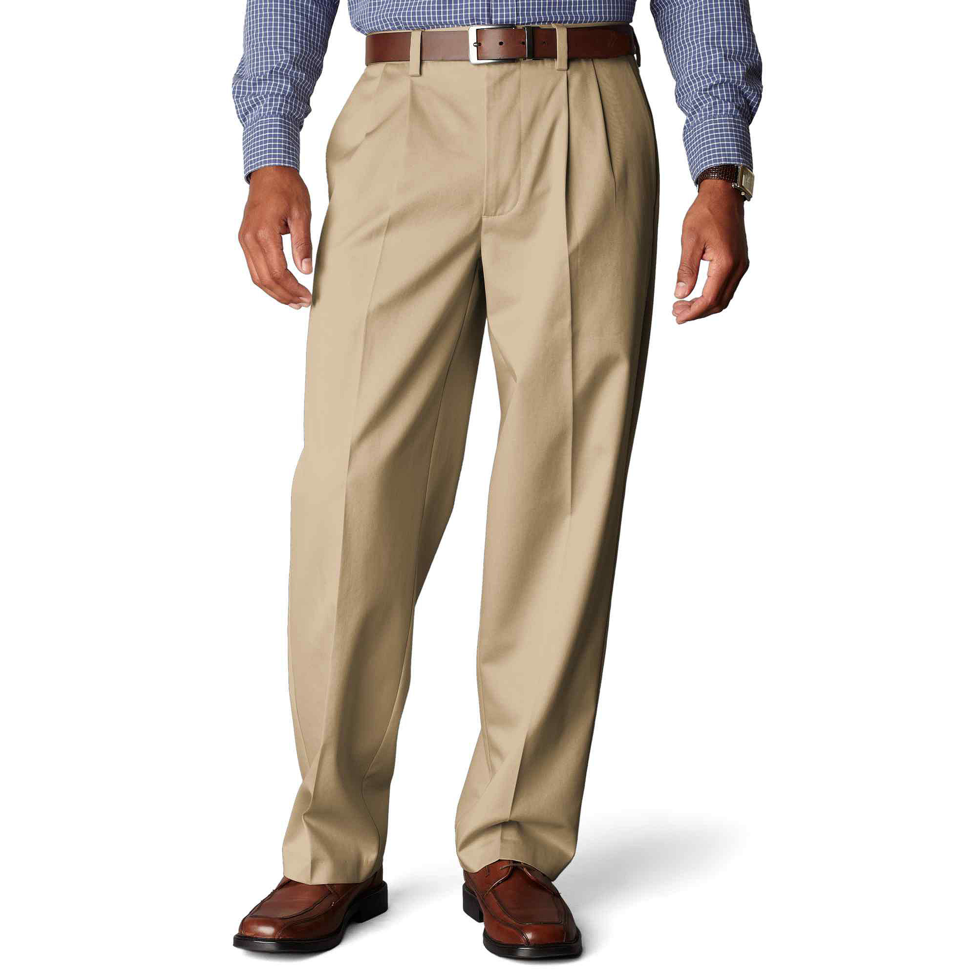 Dockers D4 Signature Relaxed-Fit Pleated Khakis