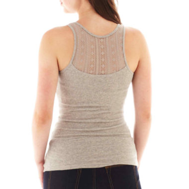 jcpenney.com | Arizona Lace-Back Ribbed Tank Top