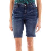 Liz Claiborne® Denim Bermuda Shorts - Petite