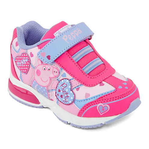 Peppa Pig Girls Light-Up Sneakers – Toddler