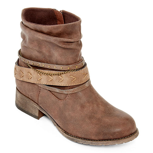 Pop Helms Strap Stud Ankle Booties