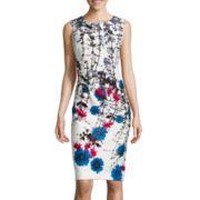 Worthington® Sleeveless Floral Sheath Dress
