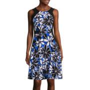 Worthington® Sleeveless Fit-and-Flare Dress